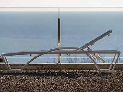 Strandbedden en ligbedden Balliu ALUMINIUM hotel boulvard zwembad sauna strand